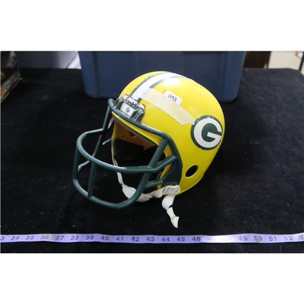 #1153 - Vintage Replica Green Bay Packers Plastic Helmet - Mid 70's