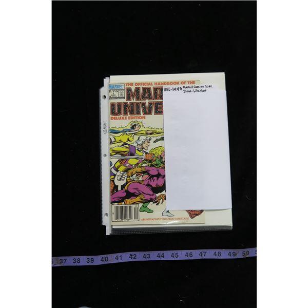 #1156 - Lot of 3 Marvel Comics All #1 Issues Like New : Alpha Flight, Marvel Universe & Hawkeye