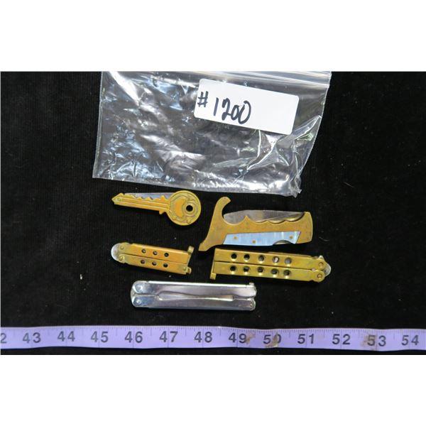 #1200 - Lot of 5 Mini Replica Knives