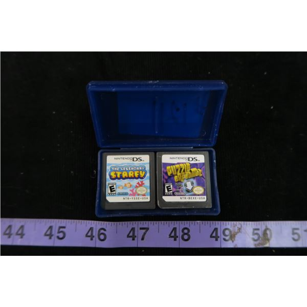 #1211 - 2 Nintendo DS Games in Case (The Legendary Starfy and Puzzle Expedition)