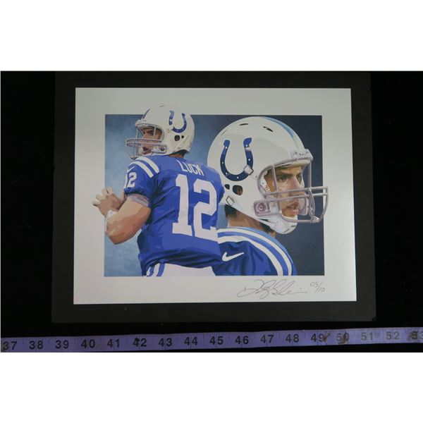 #1219 - Andrew Luck Print - 5/10 Autographed by Artist