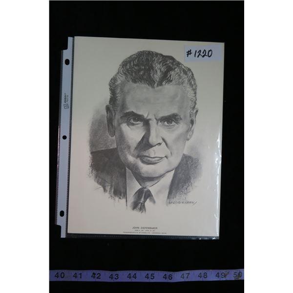 #1220 - Quaker Oats Centennials Prints John Diefenbaker