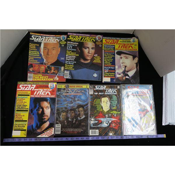 #1223 - Star Trek Lot - 3 Comics and 4 Magazines