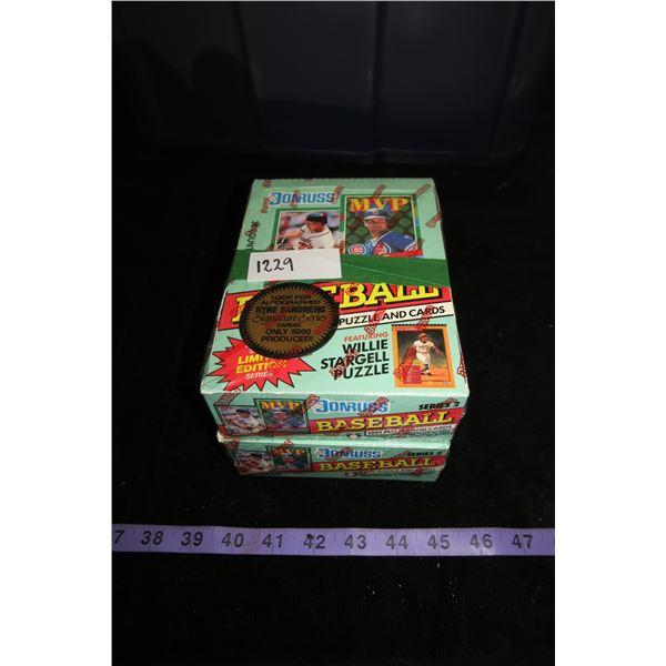 #1229 - 2 Boxes 1991 Donruss Baseball