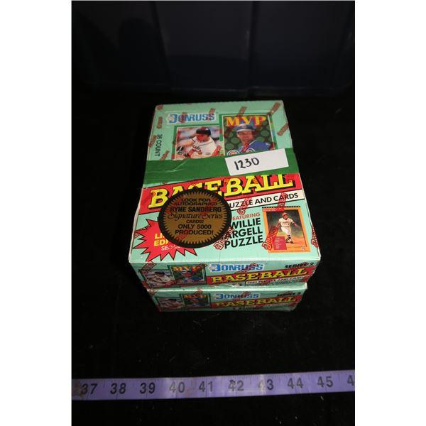 #1230 - 2 Boxes 1991 Donruss Baseball