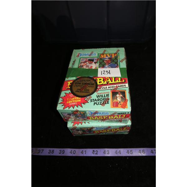 #1231 - 2 Boxes 1991 Donruss Baseball