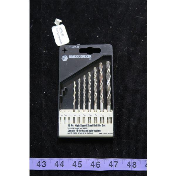 #1247 - Black and Decker drill bit set