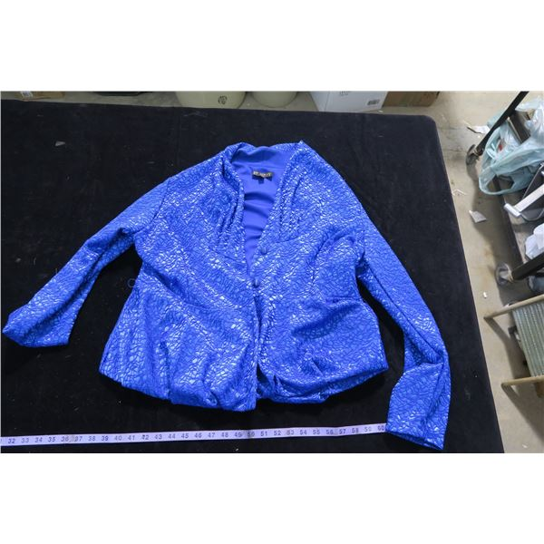 #1259 - Piccadilly XL Blue Jewel Toned Dinner Jacket - Like New