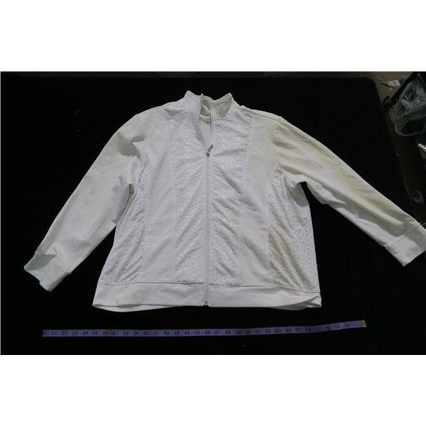 #1261 - Alia White Spring Cotton Jacket