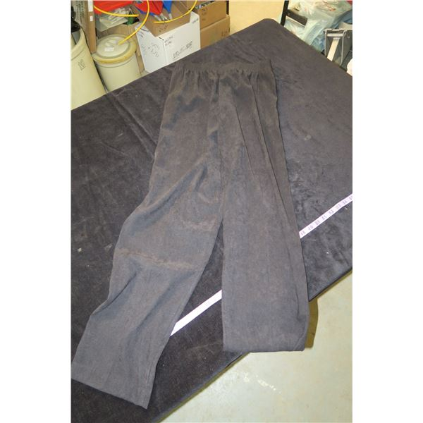 #1264 - Alia Faux Suede Black Pants Sz10 - Like New