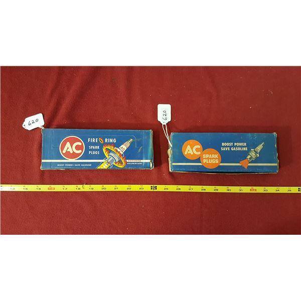2 AC Spark Plug Boxes 8-85T & 8-M8 Sparkplugs