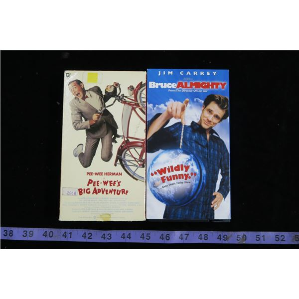 Bruce Almighty & PeeWee's Big Adventure VHS