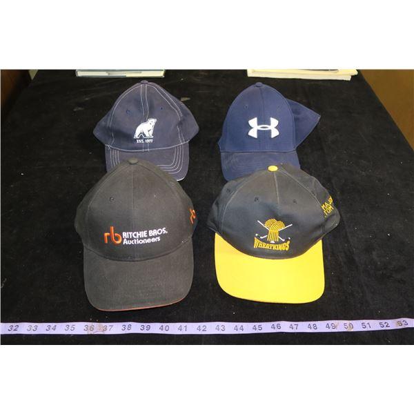 4 Collector BaseBall Caps