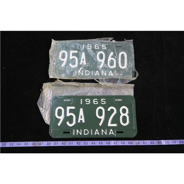 1965 Indiana license plates