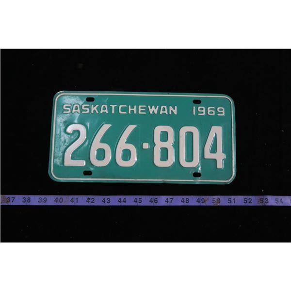 1969 Saskatchewan license plate