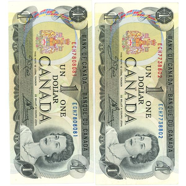 Two $1 Dollar Bills