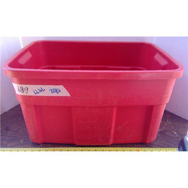 1 Red Plastic Tub - No Lid