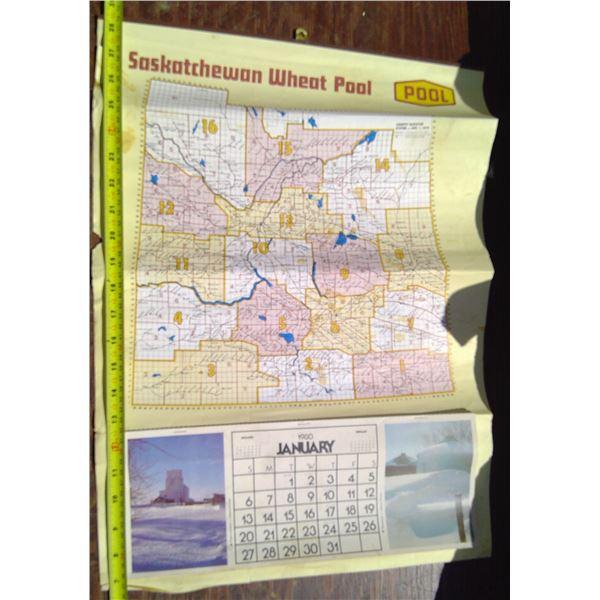 1980 Sask Wheat Pool Map/Calendar
