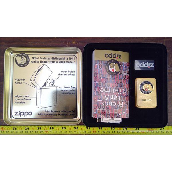 Zippo Lighter 10th Anniversary 1932-2002