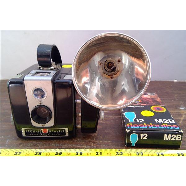 Brownie Camera & Bulbs
