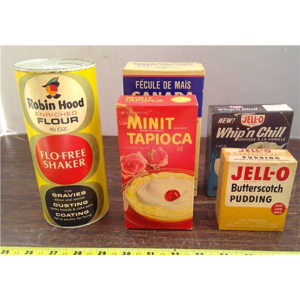 Robin Hood Flour Shaker, Corn Starch, Minute Tapioca, Jell-O