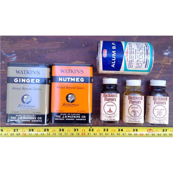 Goldex Alum, 3 Blackford Flavours, Watkins Ginger & Nutmeg
