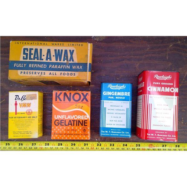 Rileys Cinnamon/Ginger, Dr.Bells, Seal Wax & Knox Geletin