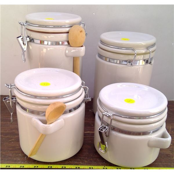 Set of White Cannisters
