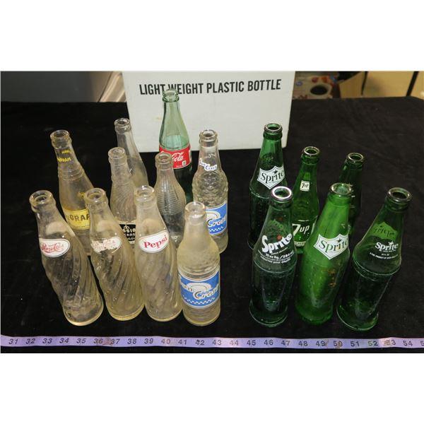 #1273 - 16 Various Vintage Pop Bottles