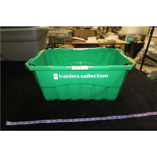 #1274 - Green PC Plastic Shopping Basket