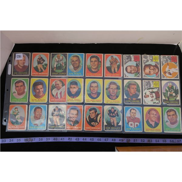 #1281 - Lot of 31 50's & 60's CFL Football Card Lot (poor condition)