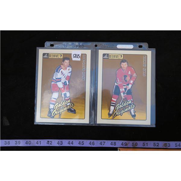 #1283 - 1997-98 Pinnacle Beehive 5x7 Golden Originals Stan Makita & Andy Bathgate