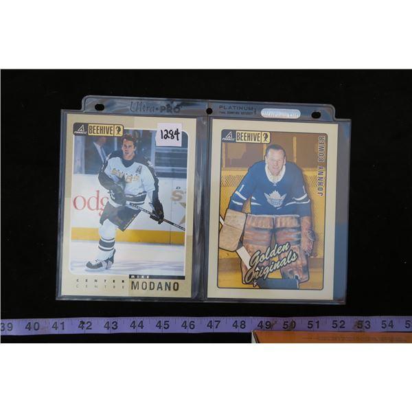 #1284 - 1997-98 Pinnacle Beehive 5X7 Johnny Bower Golden Originals & Mike Modano