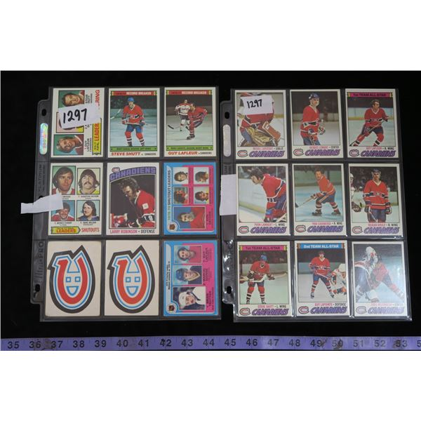 #1297 - 1976-77 & 1977-78 Montreal Canadiens 18 Card Lot
