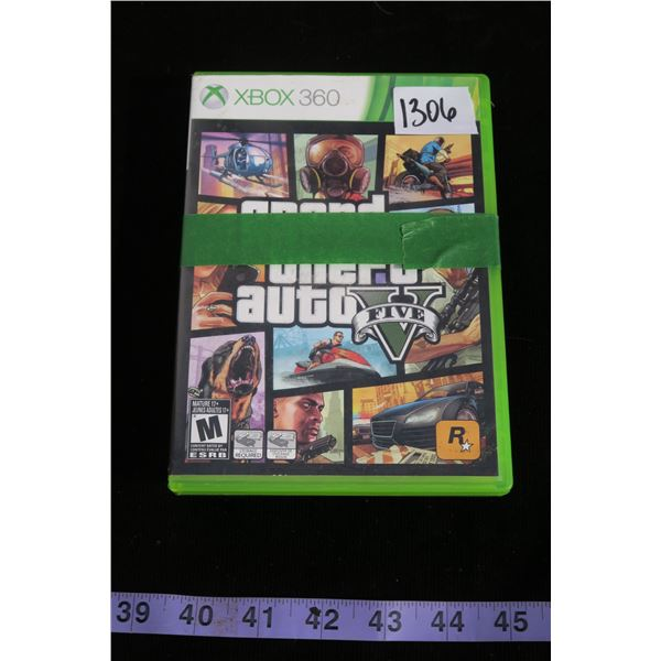 #1306 - 2 Xbox 360 Games Grand Theft Auto 5 and Call of Duty MW3