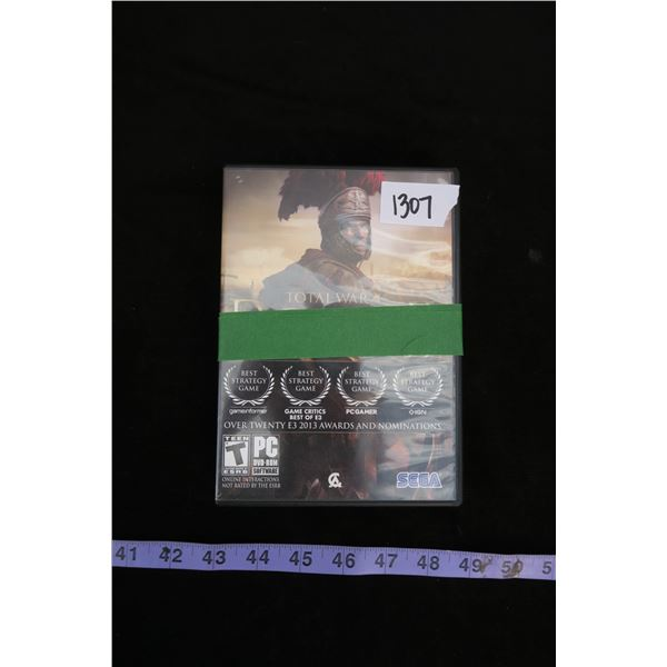 #1307 - 2 RPG Video Games for PC, Skyrim - The Elder Scrolls V (W/Map and Guide) and Rome II - Total