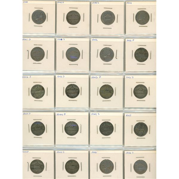 (2) 1940-1946 USA 5 Cent Coins