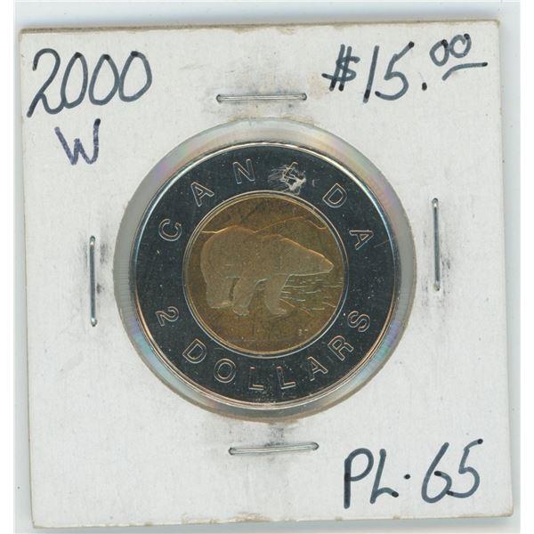 2000 Canadian 2 Dollar Coin PL-65