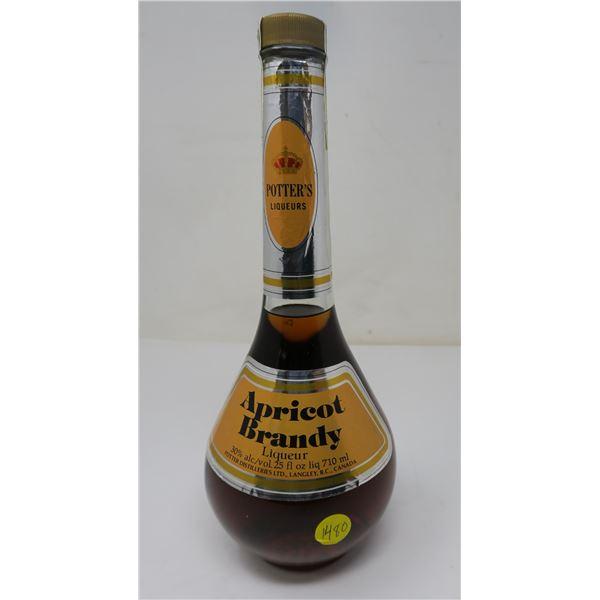 Potter's Apricot Brandy 710ml Sealed