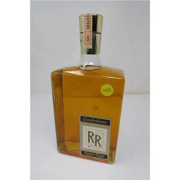 Gooderman's Rich & Rare Canadian Wiskey 40oz/1.14L Sealed Bottle