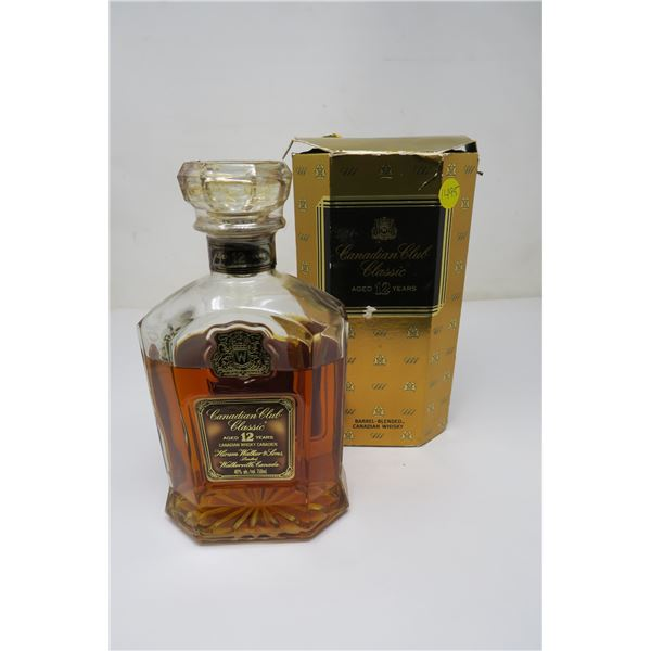 1973 Canadian Club Classic Whiskey Aged 12 Years Sealed/Partially Evaporated