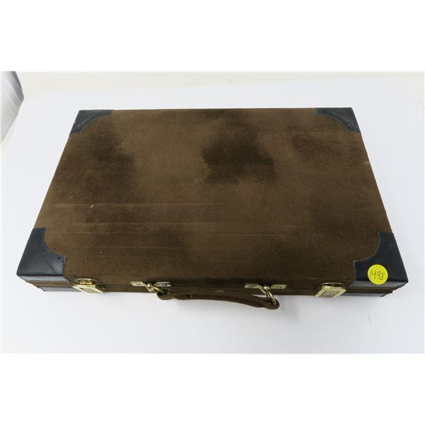 Backgammon Suede Case Set