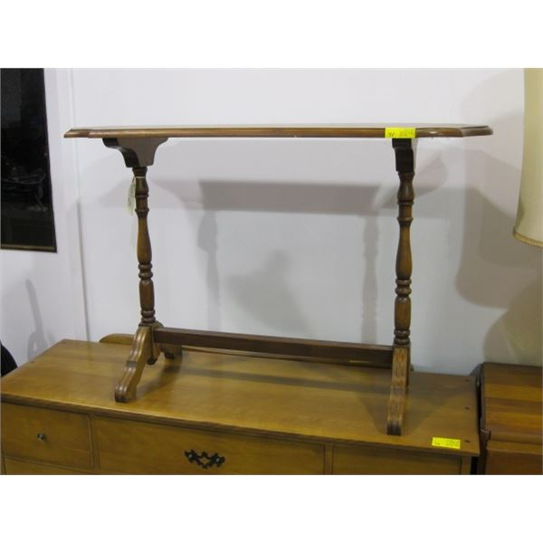ANTIQUE STRETCHER BASE TABLE