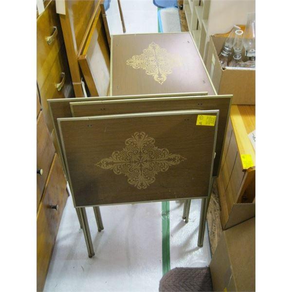 4 FOLDING TV TABLES
