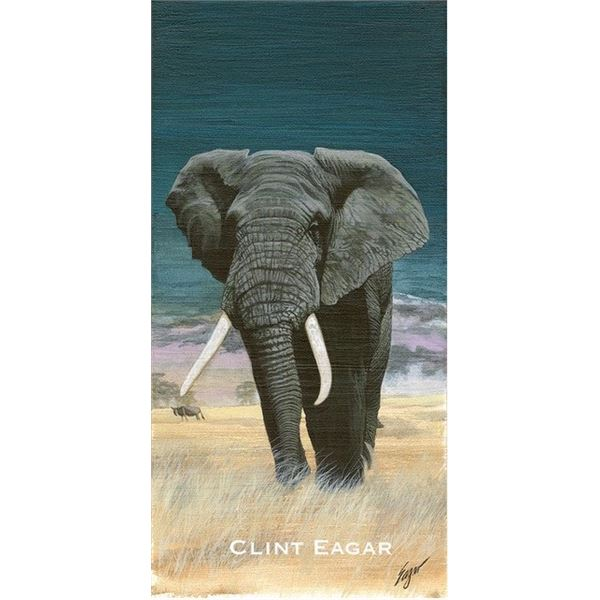 """High Quality GiclŽe """"Big Bull Elephant"""" by Artist Clint Eagars"""