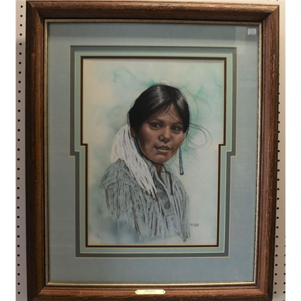 CROW INDIAN PAINTING ( PENNI ANNE CROSS)