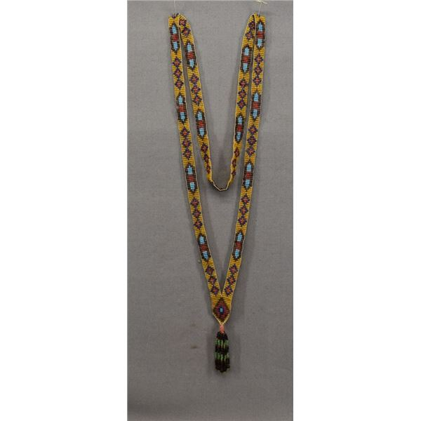 PLAINS INDIAN BEADED NECKLACE