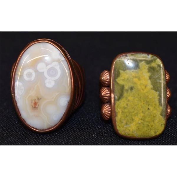 LAGUNA INDIAN RINGS ( GREG LEWIS)