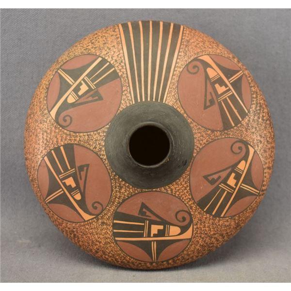 HOPI INDIAN POTTERY SEED JAR (FAWN NAVASIE )