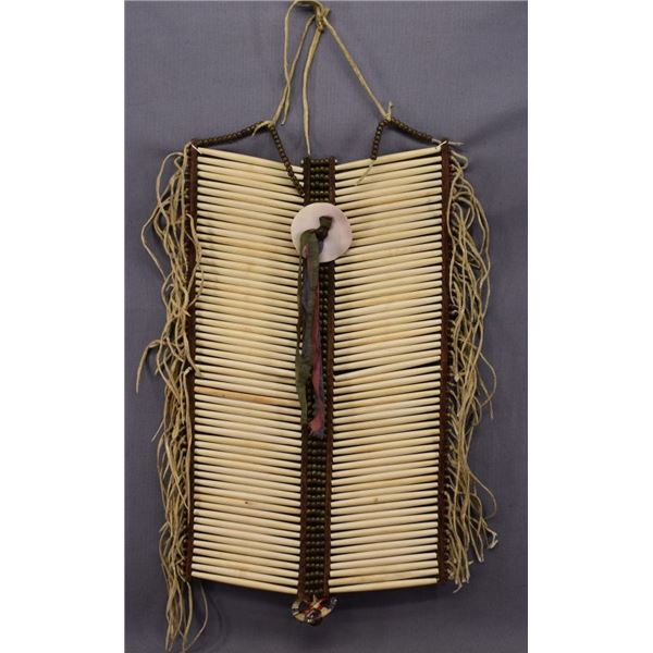 SIOUX INDIAN BONE BREASTPLATE